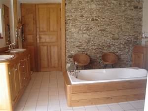 beautiful deco salle de bain bois contemporary With chambre de bain decoration