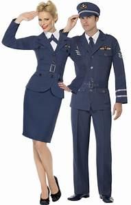 WW2 Air Force Male Female Captain Fancy Dress 1940s ...