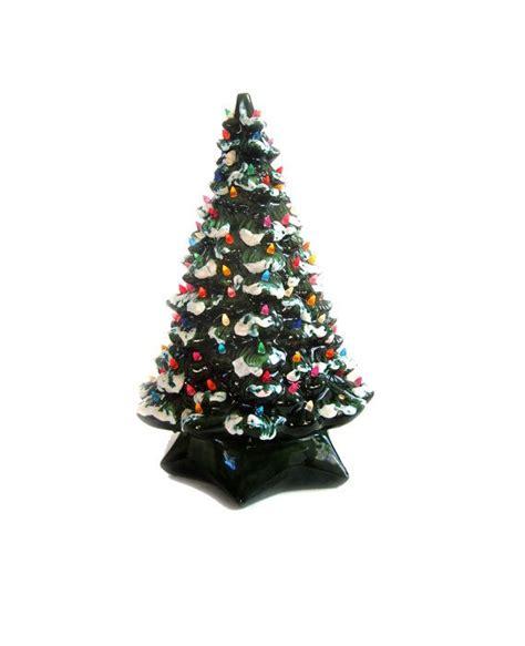 large vintage ceramic tree w lights and