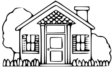 home construction clipart black and white house with garage clipart black and white clip library