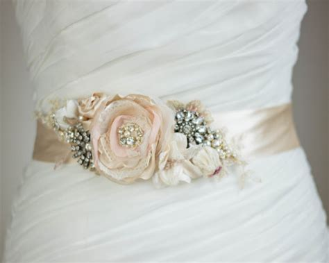 Bridal Sash Bridal Belt Blush Sash Floral Sash Floral Belt. Wedding Dresses With Sleeves. Champagne Wedding Dress And Grey Suit. Pink Wedding Dress Belts. Wedding Dresses With Sleeves Uk