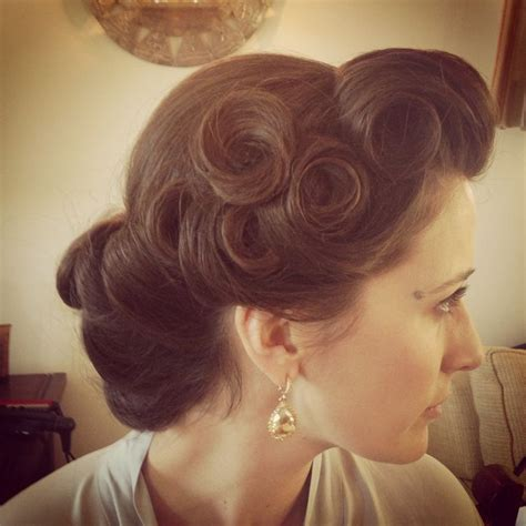 1940s Wedding Hairstyles by Pin Up Wedding Hairstyles Pin Curls Vintage Hairstyle