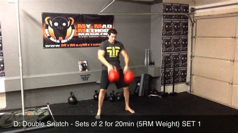 kettlebell double workout snatch