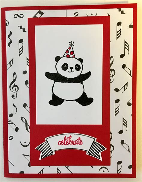 su party pandas  card cards birthday