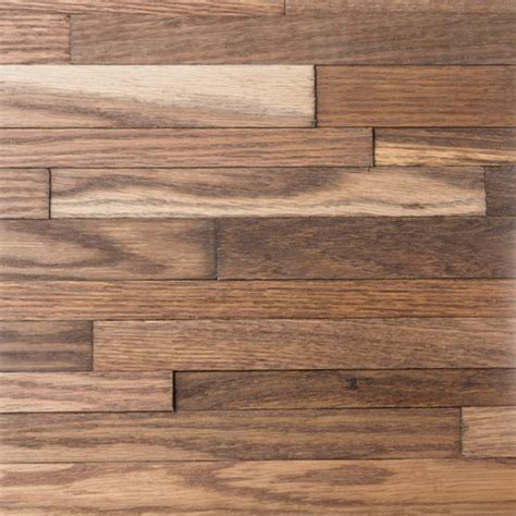 wood flooring wall paneling red oak friendlywall dakar 6 6 9 9mm x 13 5 quot x 53 5 quot select oil finish prefinished wall