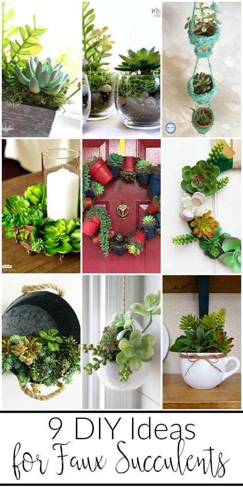 9 Diy Ideas For Faux Succulents  Mm #150 Domestically