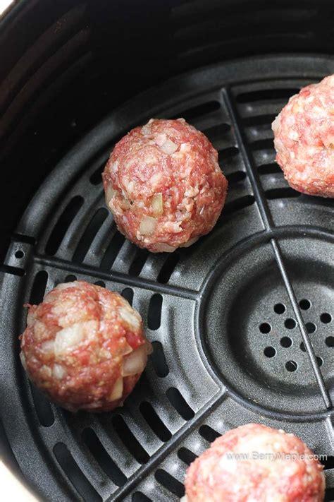 fryer air meatballs frozen fresh box cook chicken turkey ground raw basket keto recipe beef lunch