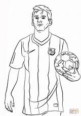 Coloring Pages Messi Lionel Football Printable Soccer sketch template