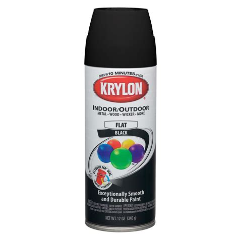Krylon  1602  Flat Blackpaint Spray Krylon  Sears Outlet