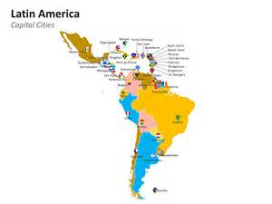 Latin America Countries and Capitals Map