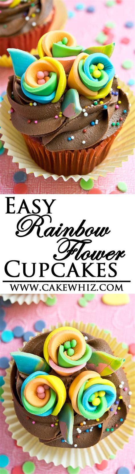 step  step tutorial   easy rainbow flower