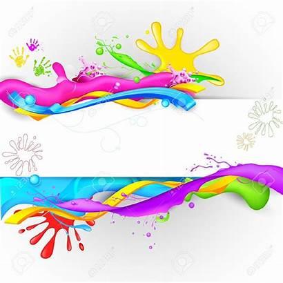 Holi Festival Clipart Splash Colorful Colours Background
