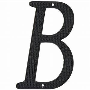 National brand alternative 901047 black metal house letter for Black metal house letters