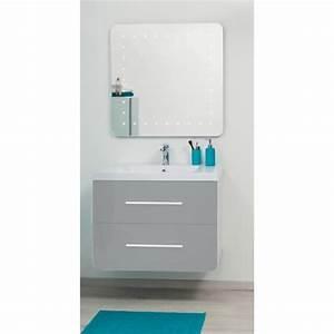 Meuble Salle De Bain Taupe : kris ensemble meuble de salle de bain 80cm taupe et ~ Dailycaller-alerts.com Idées de Décoration