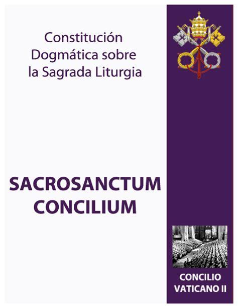 constitucion sacrosanctum concilium sobre la sagrada