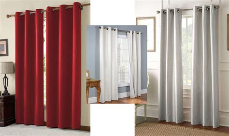 Set Of 2 Solid Thermal Lined Blackout Panel Curtains Only .00 + Free Shipping! Brushed Silver Curtain Rods Extra Long Ruffle Shower The Shop Online Acrylic Bead Curtains Room Partition Modern Kids Wire Mesh Target Yellow
