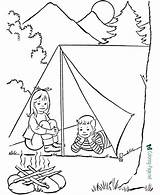 Camping Coloring Pages Printable Print Related sketch template