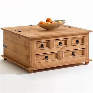 Table Basse En Pin : table basse tequila pin ~ Teatrodelosmanantiales.com Idées de Décoration