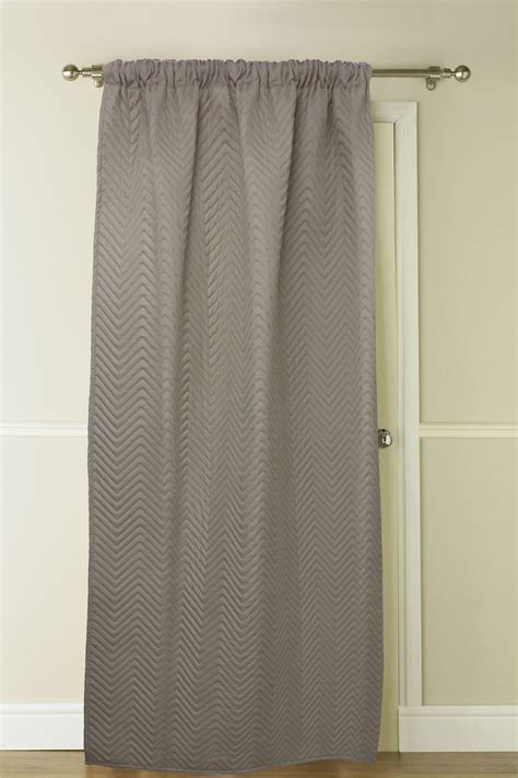 chevron thermal door curtain panel energy saving curtains