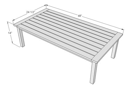 outdoor table dimensions ana white simple white outdoor coffee table diy projects