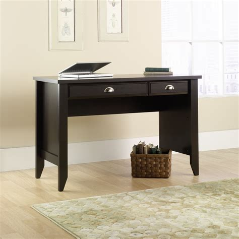 sauder shoal creek desk jamocha wood whitevan