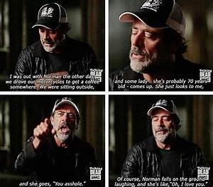 HAHA poor Jeffe... Funny Negan Quotes
