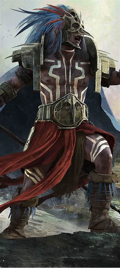 Warrior Aztec Wallpapers Fantasy Resolution 4k Published