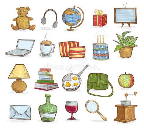 objetos del hogar ilustracion del vector ilustracion de