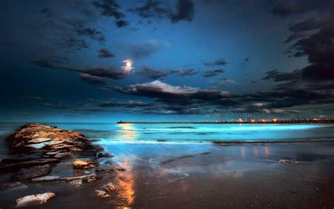 Beach Night Hd Wallpapers Wallpapersafari