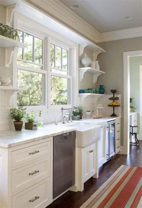 ideas for kitchen windows kitchen stuff plus on open shelves white