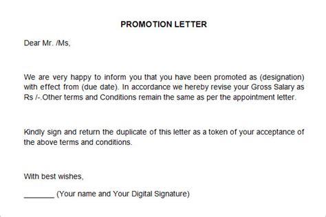 promotion letter template 25 sle appraisal letters pdf doc free premium templates