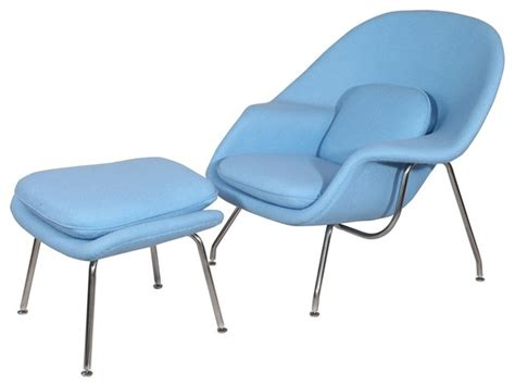 comfy chair and ottoman set baby blue modern
