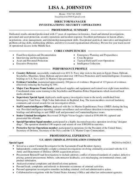 background investigator resume fiveoutsiders