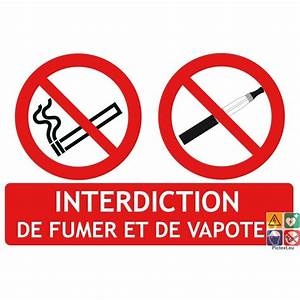 Panneau Interdiction De Fumer : signal tique 2 en 1 interdiction de fumer et de vapoter ~ Melissatoandfro.com Idées de Décoration
