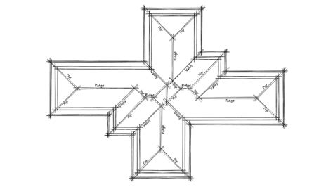 Hip Roof Plans by Basic Easy How To Draw A Roof Plan In Autocad Tutorial