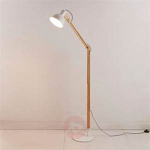shivanja floor lamp made of wood metal lightscouk With used wood floor lamp