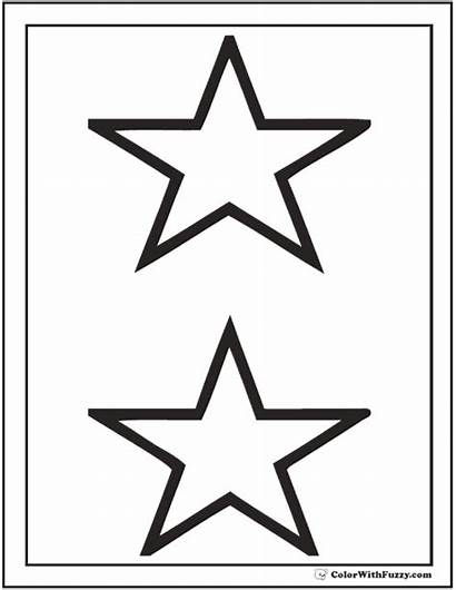 Coloring Pages Stars Star Printable Pdf Cool