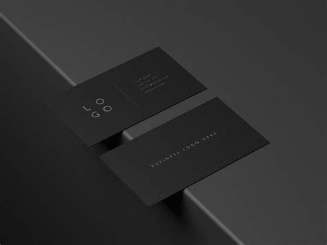 mockup pack black business cards  business cards