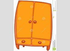 Cartoon Home Furniture Wardrobe Stock Vector