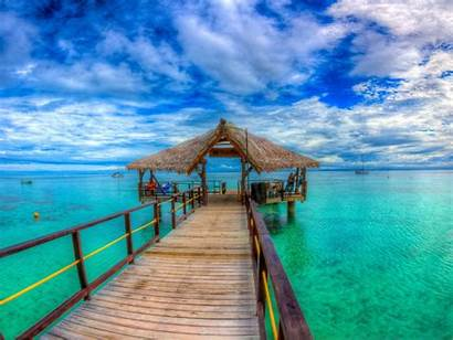 Islands Island Fiji Turquoise Ocean Doc Straw