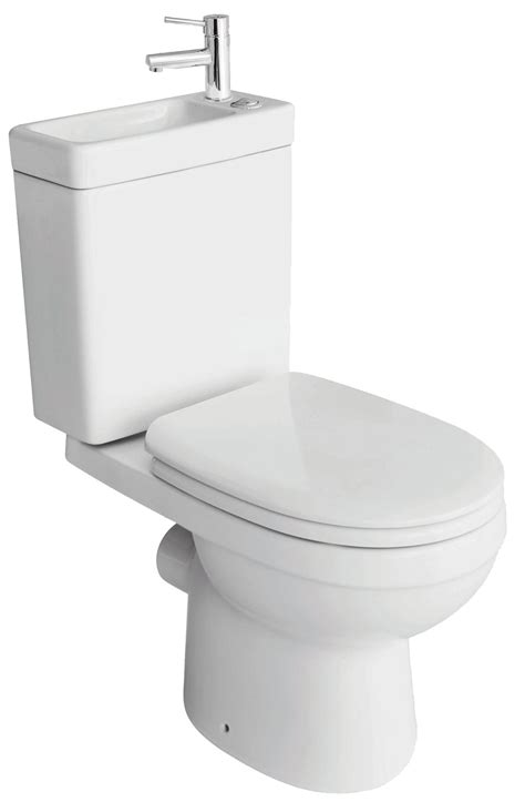 toilet and basin combined cooke lewis duetto close coupled toilet with integrated basin with soft close seat