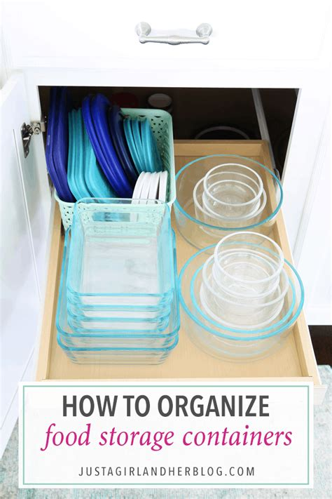 organize food storage containers tupperware