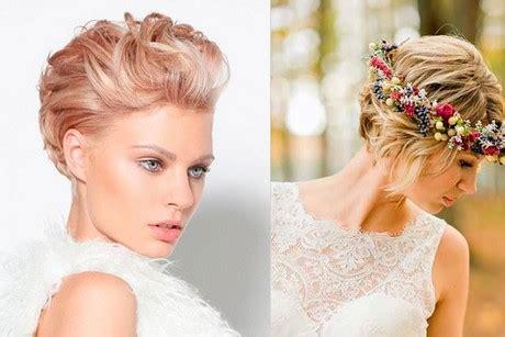 Peinados pelo corto mujer para boda