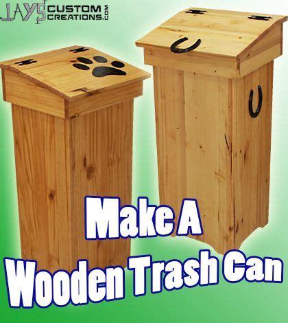 diy project plan learn     wooden trash