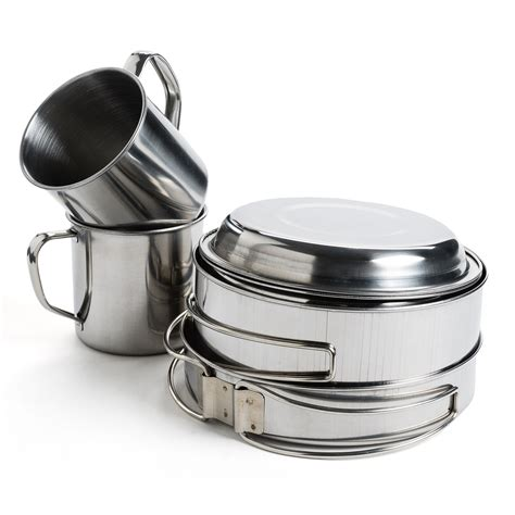 camping stainless steel cookware bromwell jacob
