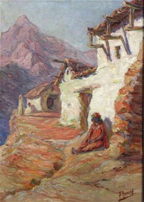 peinture algerie paysage de montagne edouard herzig