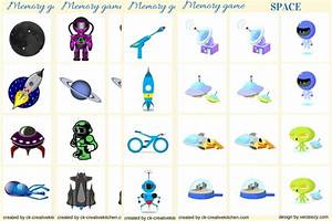 Space - Memory game free printables - Creative Kitchen
