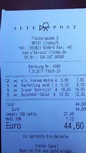 Avis Rechnung : gasthof alte post lindau restaurant avis num ro de t l phone photos tripadvisor ~ Themetempest.com Abrechnung