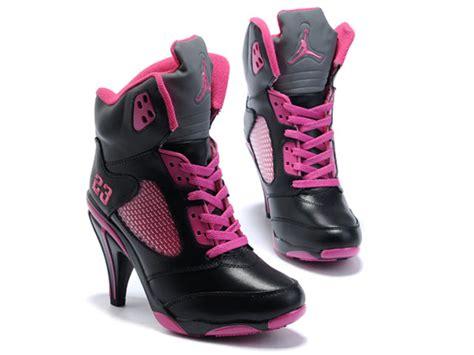 specials air jordan  high heels shoes pink black  sale