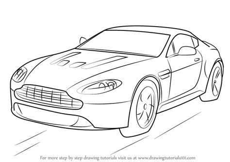 learn   draw aston martin  vantage sports cars